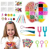 Loom Bracelet Making Kit, BicycleStore Small Colored Wonder Rubber Bands Bracelet DIY Refill Kits Rainbow with 200 S Buckles, 80 Beads, 10 Silicone Pendants for Girls, Boys, Kids, Crafts