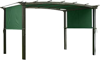 Yescom 17x6.5 Ft Universal Canopy Cover Replacement for Curved Pergola Structure Green
