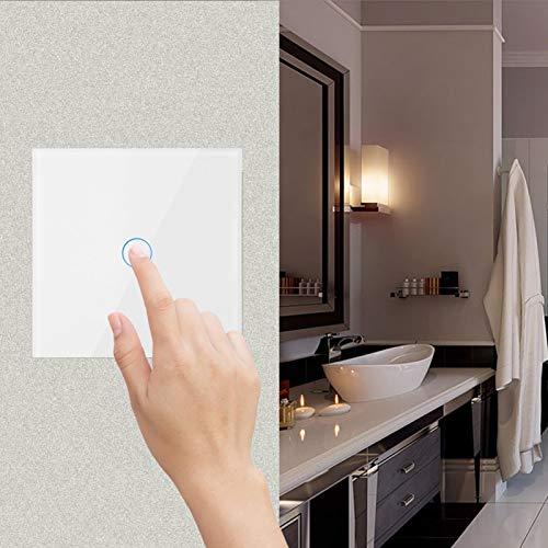 Affidabile interruttore a parete intelligente remoto in vetro con pannello a sfioramento Wifi Alta affidabilità, per l'accensione delle luci