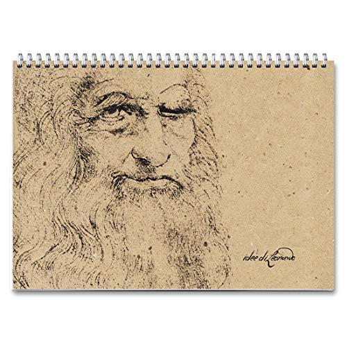 Campus Leonardo da Vinci – Planificador semanal 30 x 21 – Agenda planificador de mesa perpetua con espiral metálica