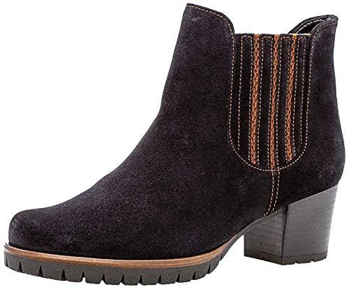 Gabor Damen Chelsea Boots 36.654, Frauen Stiefelette,Stiefel,Halbstiefel,Bootie,Schlupfstiefel,hoch,Pazifik (Micro),38 EU / 5 UK