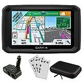 Garmin 5' GPS Navigator for Trucks & Long Haul (010-01858-02) with Dual Electronic Car Socket Cigarette Lighter USB Ports, 3 Pcs Digital Camera & Camcorder Screen Protectors & 7' Tablet Case