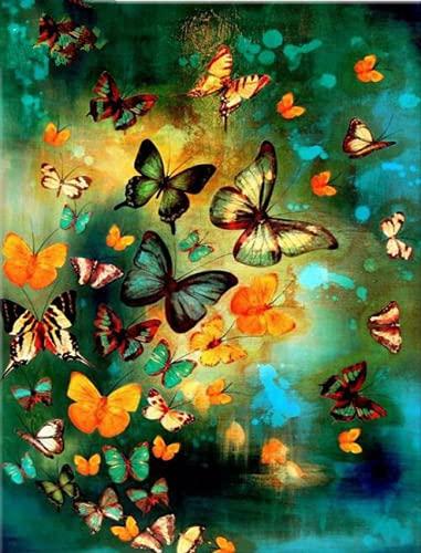 Puzzle-Mariposa Rompecabezas para Adultos Niños 300 Piezas Juego de Rompecabezas de Madera para Regalos Decoración del hogar 38x26cm