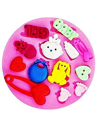 Inception Pro Infinite Molde de silicona para uso artesanal de accesorios de niña Baby Girl – Broche – Corazón – Botón – Pies – Idea regalo