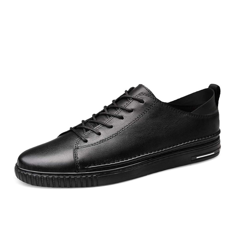 [OceanMap] 白の靴 おしゃれ スニーカー メンズ 大きいサイズ デッキシューズ おしゃれ メンズシューズ 春夏 レザー レースアップ 歩きやすい 軽量 白の靴 トレンド 柔軟 衝撃吸収 学校 ストリート系 通勤 通学 学生 日常