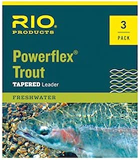 Rio Powerflex Trout Fly Fishing Leaders, 9 Foot - 6 Pack