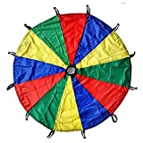 GSI Kids Play Parachute Toy 24 feet with Handles and Carry Bag for Cooperative Play and for Upper-Body Strength | Multi-Colored