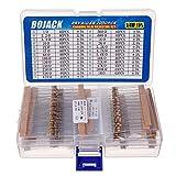 BOJACK 25 valores 1000 Piezas 1 / 4W 1 Ohm-1M Ohm 5% Kit de resistencias de película de carbono