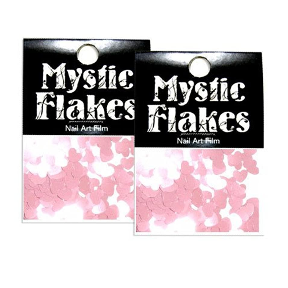 胚芽好奇心バラバラにするミスティックフレース ネイル用ストーン メタリックLtピンク ハート 0.5g 2個セット