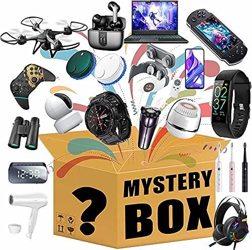 Azanaz Objet Mystère Boîte Surprise,Lucky Box,La Boîte Mystère Couvre Les Les Derniers Téléphones Mobiles, Drones, Montres Intelligentes, L'électronique, Tout Est Possible!(Aléatoire)
