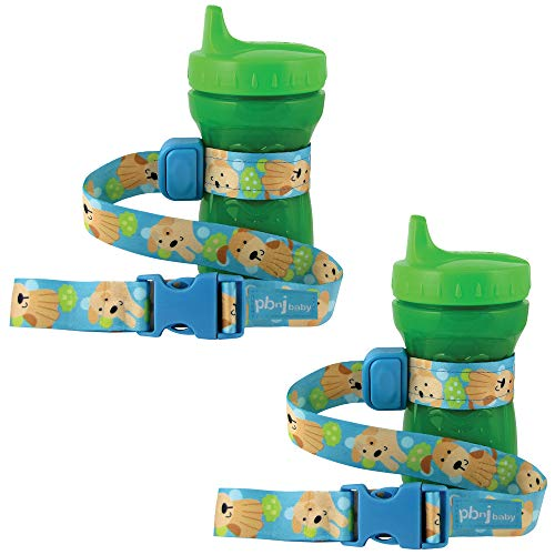 PBnJ Baby SippyPal Sippy Cup Holder Strap Leash Tether (Puppy 2-Pack)