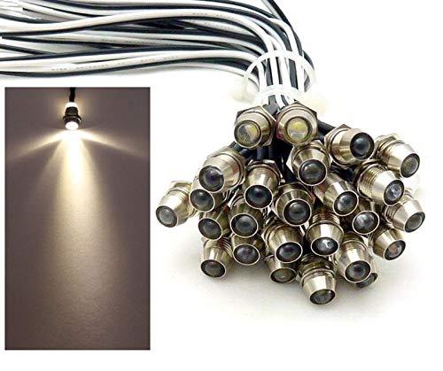 10x LED Lichtpunkt Sternenhimmel Aluminium IP68 Wasserdicht Verbrauch 0,2 Watt pro Lichtpunkt dimmbar Einbauspot Schraube Licht Punkt Deckenleuchte Deko Lichtfarbe : Warmweiss