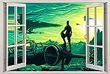 GFRT Etiqueta de la Pared 3D El Despertar de la Fuerza Pintura Etiqueta de la Ventana 3D Etiqueta de la Pared 3D Arte Mural