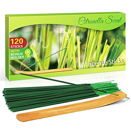 LA BELLEFÉE Citronella incense Sticks For Home, Kitchen, Outdoors, Bars, Office, Gift and more