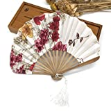 JIAWEIDAMAI - Abanicos de bambú para niñas y mujeres 2