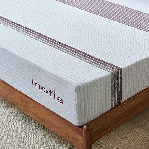 Queen Mattress, Inofia 11 Inch Gel Memory Foam Mattress Cooler Spine Aligned Pressure Relief with Breathable Soft Knitted Fabric Cover Mattress in a Box (Queen)