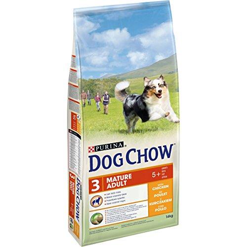 DOG CHOW Chien Mature Adult Croquettes avec du Poulet pour Chien Adulte 14 kg
