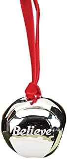 Believe Polar Express Bell Ornament by Roman Inc., Silver, Size: 1.5