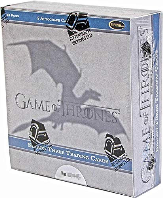 Game of Thrones Season Three Trading Card BOX [24 Packs]