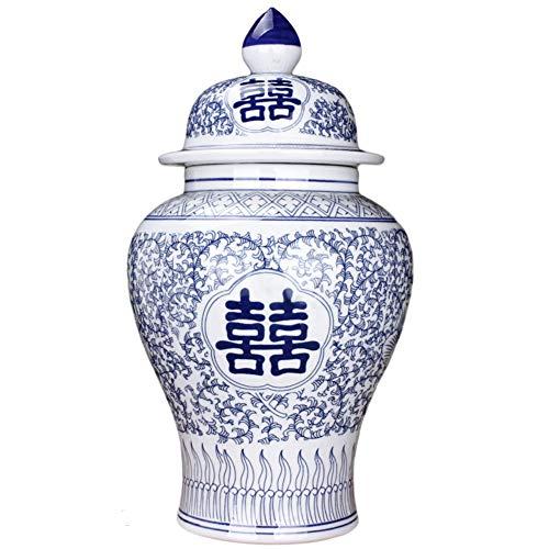 Tradizionale Porcellana Vaso di Fiori Bianco E Blu Cinese Vasi in Ceramica Stile Ming Cina Tempio Jar Vasi Dipinti A Mano Stile Ming Cina Decorazione-h38cmxw21cm