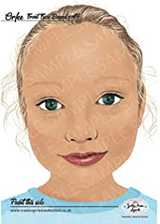 Sally-Ann Lynch Training Tried & Tested Practice Board - Orfee Child, Face Painting Practice and Display Tool, herbruikbaar