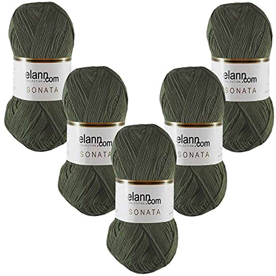 elann Sonata Yarn | 5 Ball Bag | 5923 Tuscany Olive