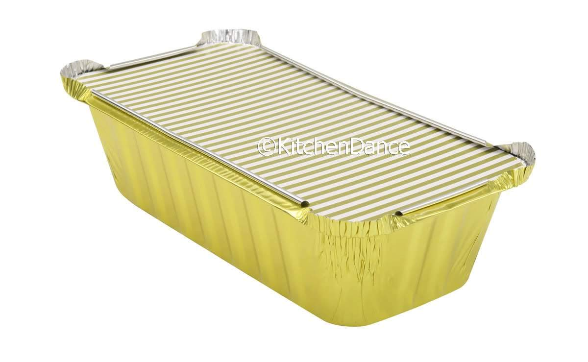 KitchenDance Disposable Super-cheap 2 Pound Seattle Mall Closable Lids Loaf Colored Pan w