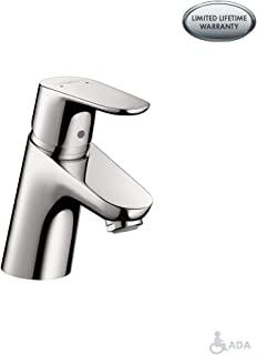 hansgrohe Focus Modern Upgrade Easy Clean 1-Handle 1 5-inch Tall Bathroom Sink Faucet in Chrome, 04370000