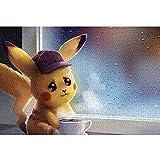 LGBCK Puzzle 1000 Adultos Detective Pikachu Rompecabezas de 1000 Piezas para Adultos y niños Rompecabezas de Navidad Desafiante Juego de Rompecabezas 75x50cm