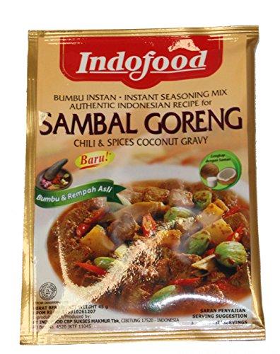 Indofood Sambal Goreng (peperoncino e spezie di cocco sugo), 45 grammo (pacchetto di 3)