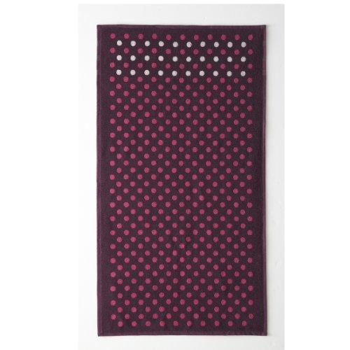 Essix - Drap de Douche Acolytes Coton Prune Pois 70 x 130 cm