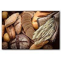 家の装飾の壁アートモジュラーポスター写真全体の小麦パンの健康食品北欧風のキャンバス絵画絵画プリントギフト壁芸術 (Color : D, Size : 60x90cm No Frame)