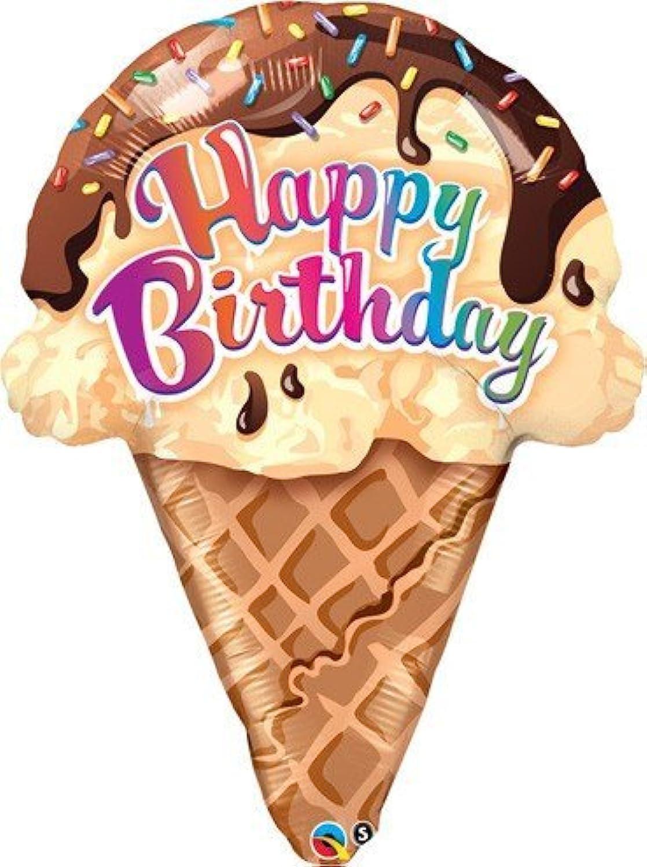 27 Inch Shaped Ice Cream Cone Balloon by Qualatex
