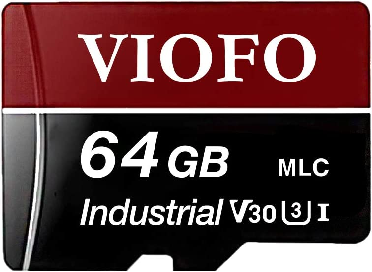 VIOFO 64GB High Speed MLC Memory Card with Adapter Support Ultra HD 4K Video Recording