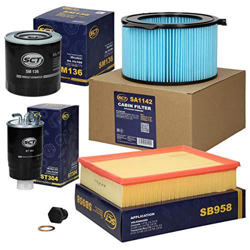 Inspektionspaket Wartungspaket Filterset 1 x Ölfilter 1 x Luftfilter 1 x Innenraumfilter 1 x Kraftstofffilter 1 x Ölablass-Schraube mit Dichtring
