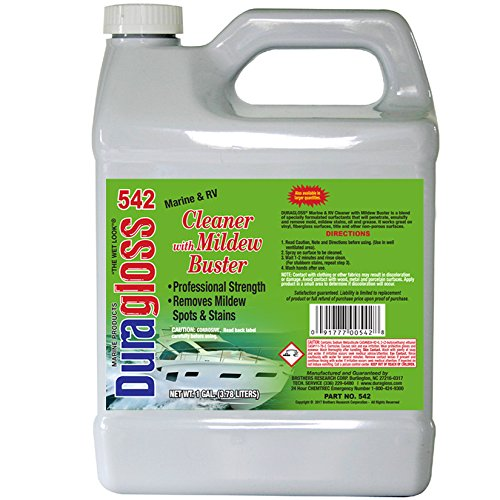 Duragloss 542 Marine and RV Cleaner removes stains and mildew, one gallon