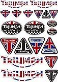 Pegatina Adhesivo Vinilo Compatible con Triumph Motorcycles Impresión Digital Laminado contra Rayos Uvi y Arañazos Hoja A 4 (20 Stickers)