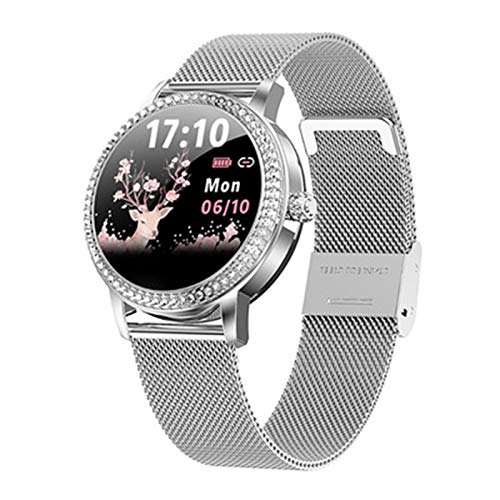 XYG M8 Smart Watch Women Gold Milanese Smart Pulsera Actividad Fitness Tracker Electrónica Reloj De Pulsera Presión Arterial,D