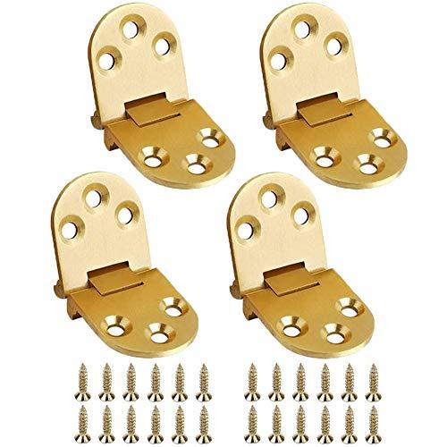 Bisagras de acero inoxidable / Conectores de bisagras de acero inoxidable / Conectores de bisagras para vitrina para el hogar Gabinete la puerta del armario (4 Piezas)