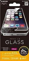 ELECOM iPhone SE/5S ガラスフィルム 【0.33mm 最高硬度9H ラウンドエッジ加工 指紋防止コーティング 飛散防止設計】PM-A16SFLGG03 PM-A16SFLGG03
