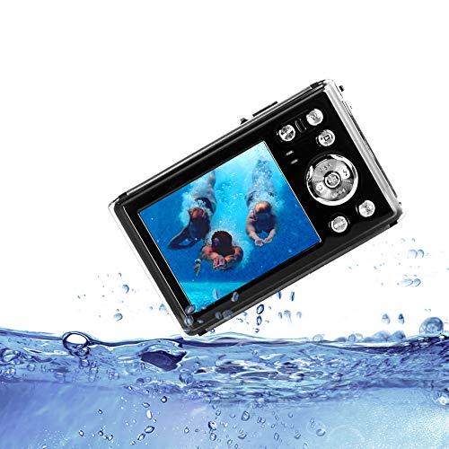 """HG8011 Cámara Digital a Prueba de Agua/Zoom Digital 8X/ 12 MP/ 1080P FHD/Pantalla LCD TFT de 2,31""""/ Cámara subacuática para niños/Adolescentes/Estudiantes/Principiantes/Los Ancianos"""