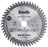 kwb 583568 - Lama per sega circolare di precisione, per legno e legno duro, 150 x 20 mm, numero elevato, 48 denti Z-48