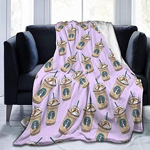 HGGZJUA Mantas Té con Leche Famoso Manta Mullida para Todas Las Estaciones Ligera Y Suave Cómoda Decoración del Hogar Manta Cama Sofá Silla Sofá Adecuado para Adultos Y Niños-60X50 Inch