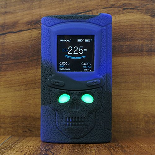 ModShield for SMOK S-Priv 225W TC Silicone Case ByJojo S Priv 225 W Skin Cover Sleeve Shield Wrap (Purple/Black)