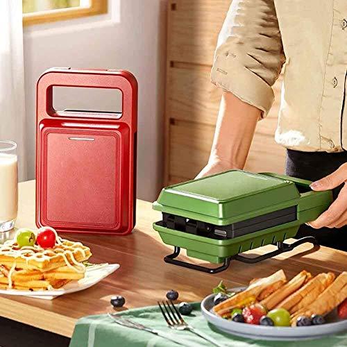 WSJTT toastie Maker Horno Profesional para gofres, tostadora para sándwiches, Parrilla para Acampar con Fuego Abierto, sartén para filetes, Plancha para gofres (Tama?o: Style1) (Color : Red)