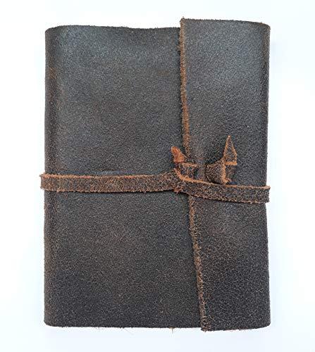 Diários de Viagem em Couro Caderno Médio (Marrom Ferrugem)