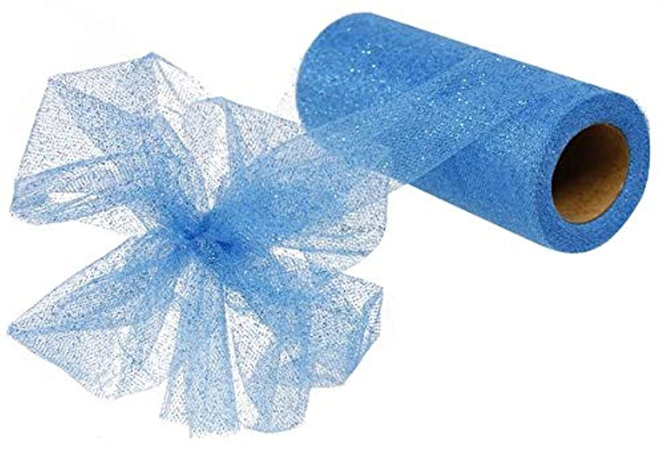 Glitter Tulle Ribbon Spool - 6