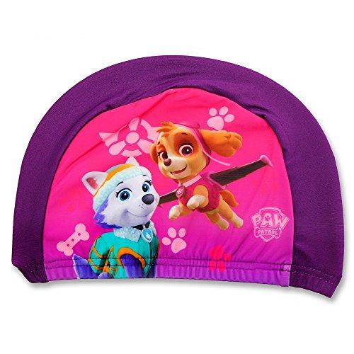 GUIZMAX Compatible avec Bonnet de Bain La Pat Patrouille Fille Violet Enfant