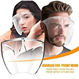 CZYSKY Face Cover Designed Fashion Style & Comfort, Face Shield Mask Glasses, Gafas...