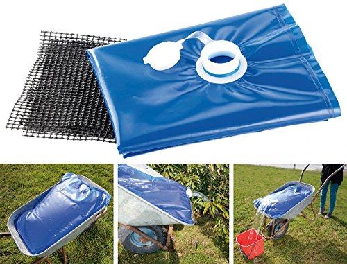 AGT Wassersack: Wasserbehälter für die Schubkarre, 80 Liter (Wassersack Schubkarre)